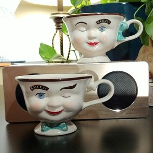 Vintage Bailey's His & Her Winking Cups